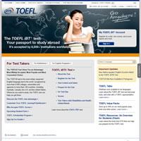 TOEFL iBT公式ウェブサイト